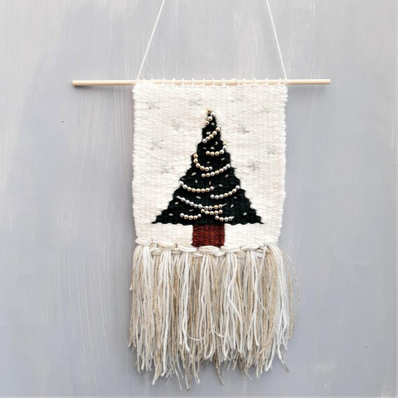 Christmas Tree woven hanging workshop