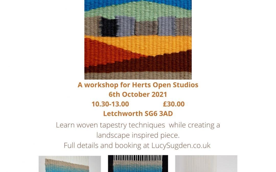 Taste of Tapestry, a workshop for Herts Open Studios